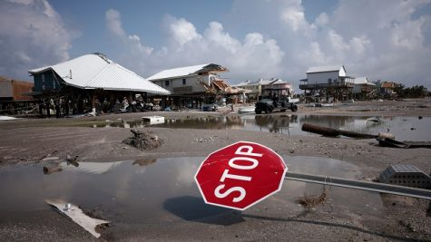 GRAND ISLE, LOUISIANA - SEPTEMBER 02: Homes destroyed in the wake of Hurricane Ida are shown September 2, 2021 in Grand Isle, Louisiana. Ida made landfall August 29 as a Category 4 storm near Grand Isle, southwest of New Orleans, causing widespread power outages, flooding and massive damage.  (Photo by Win McNamee/Getty Images)